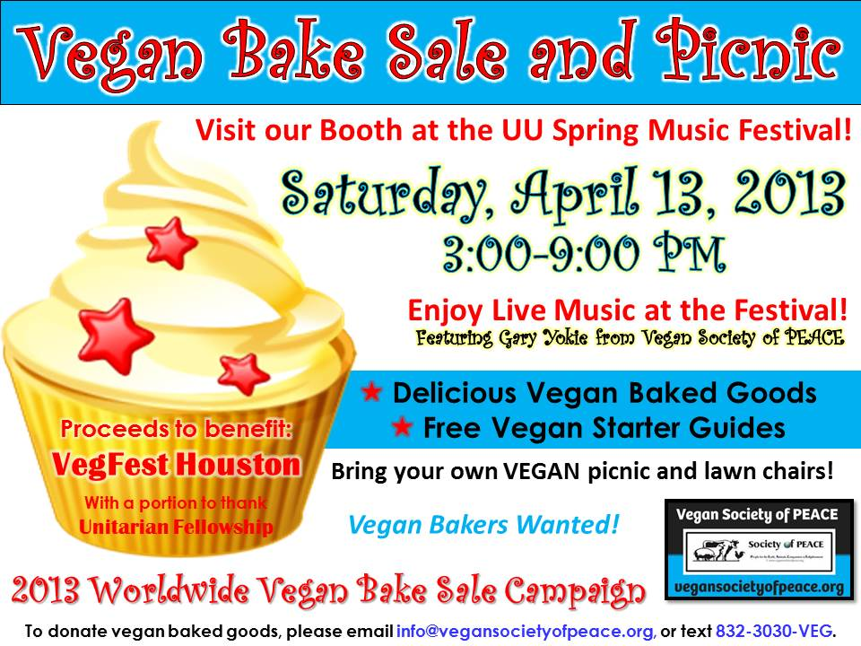 Vegan Society of PEACE Vegan Bake Sale Picnic April 2013