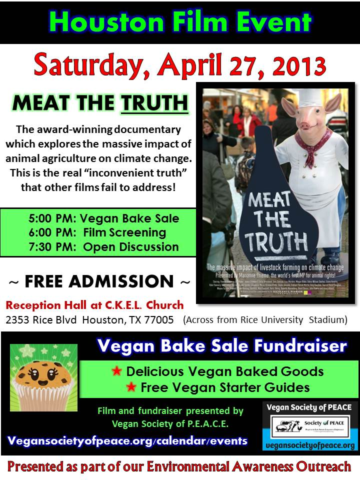 VSOP Film Screening Meat The Truth Bake Sale 2013