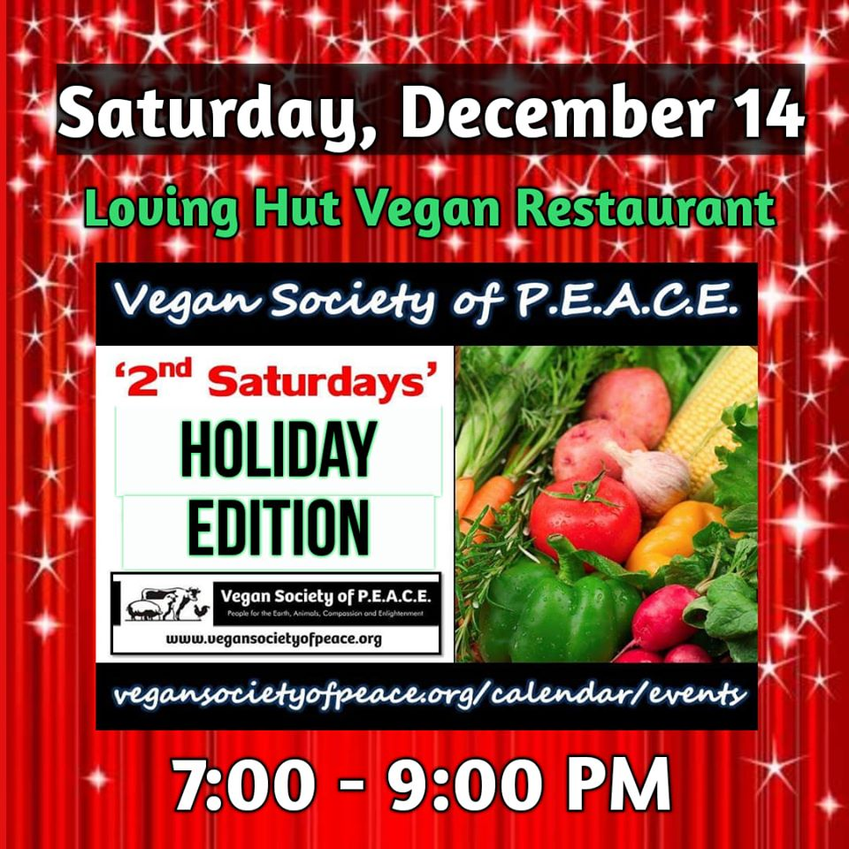 Vegan Society of PEACE Houston Holiday Event 2019
