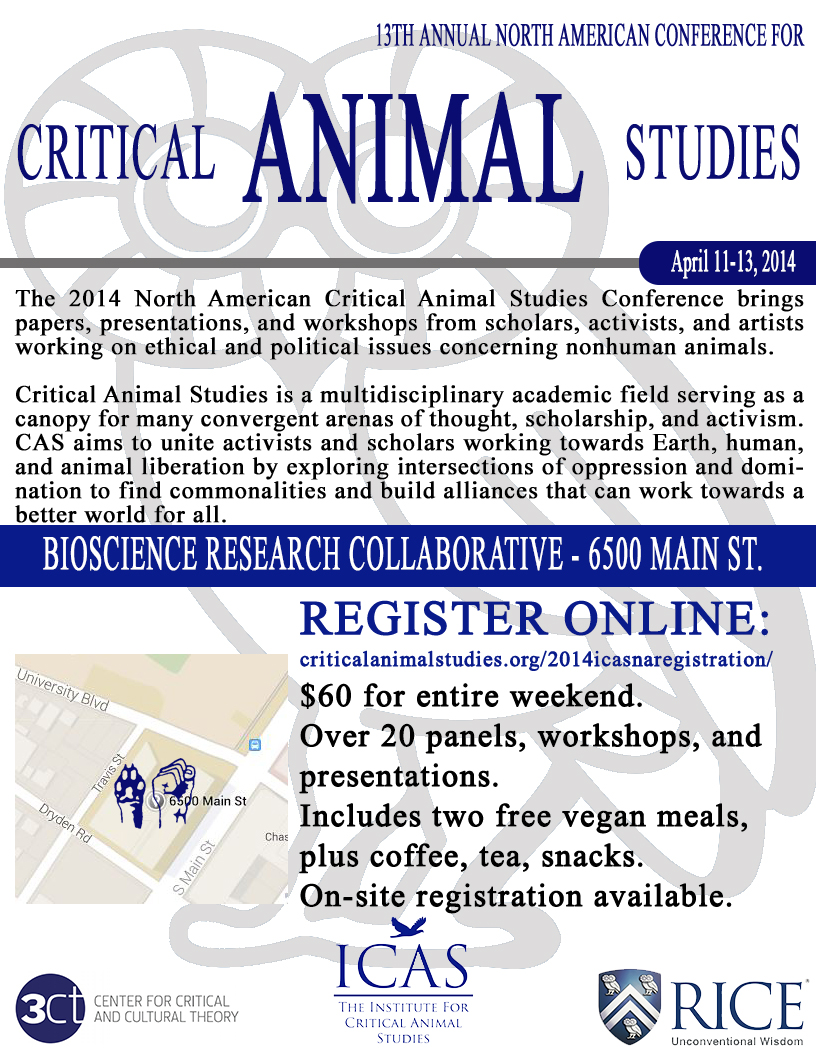 13th Annual North American Conference for Critical Animal