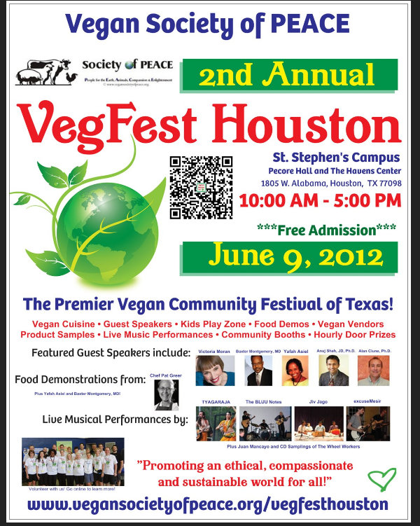 Vegan Society of PEACE VegFest Houston 2012