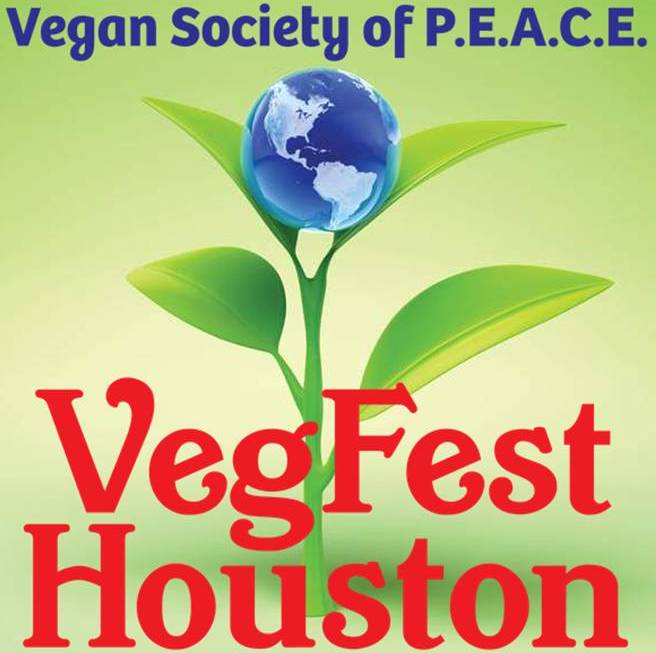 VegFest Houston Vegan Logo Awesome