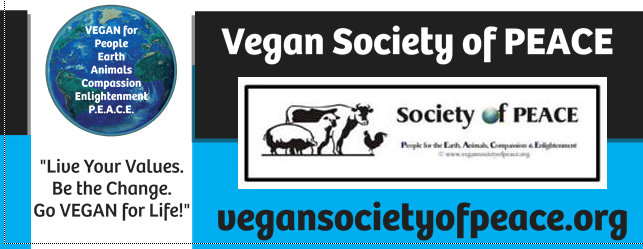 Vegan Society of PEACE banner