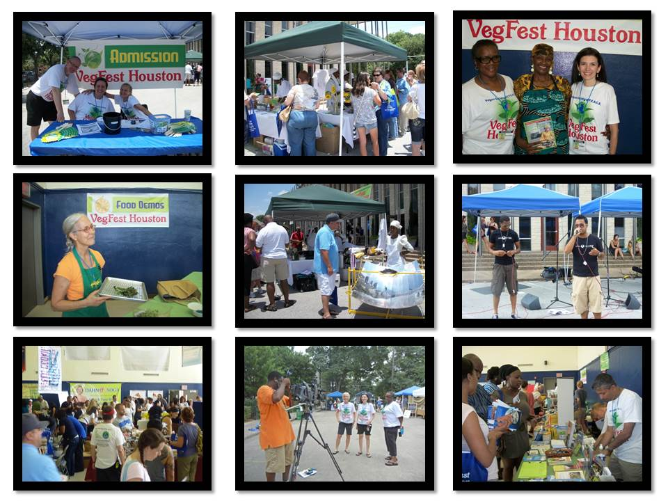 VegFest Houston Vegan Society of PEACE collage 2