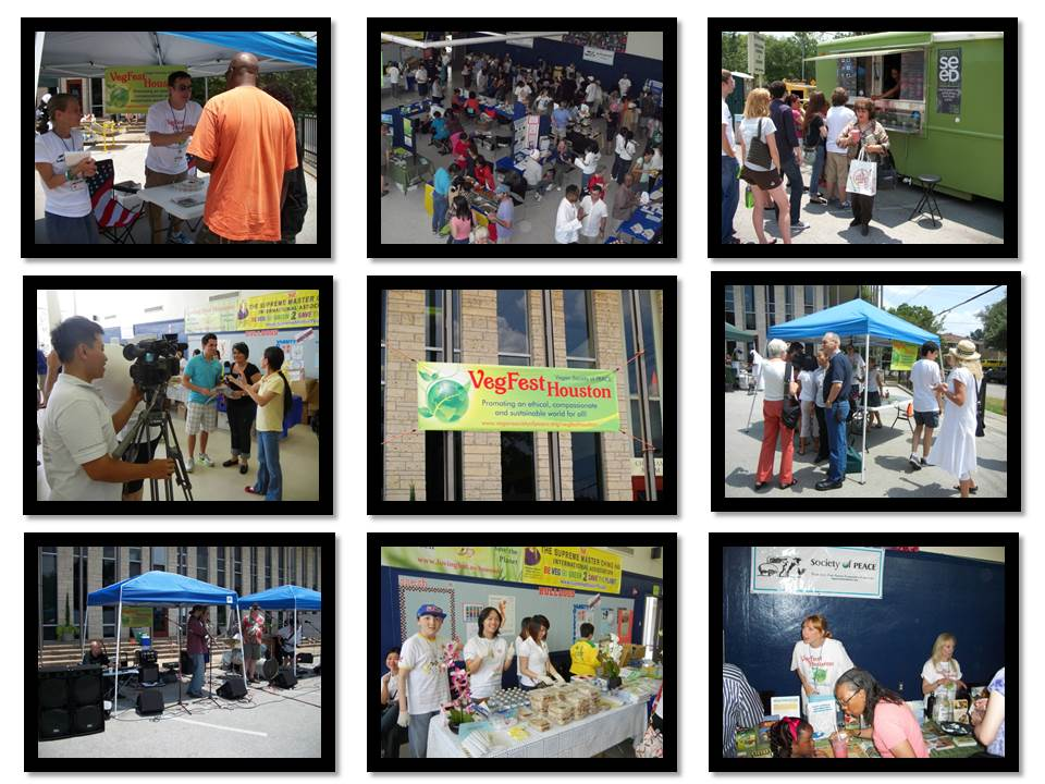 VegFest Houston Vegan Society of PEACE collage 1
